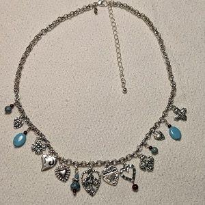 Vintage Liz Claiborne Charm Necklace
